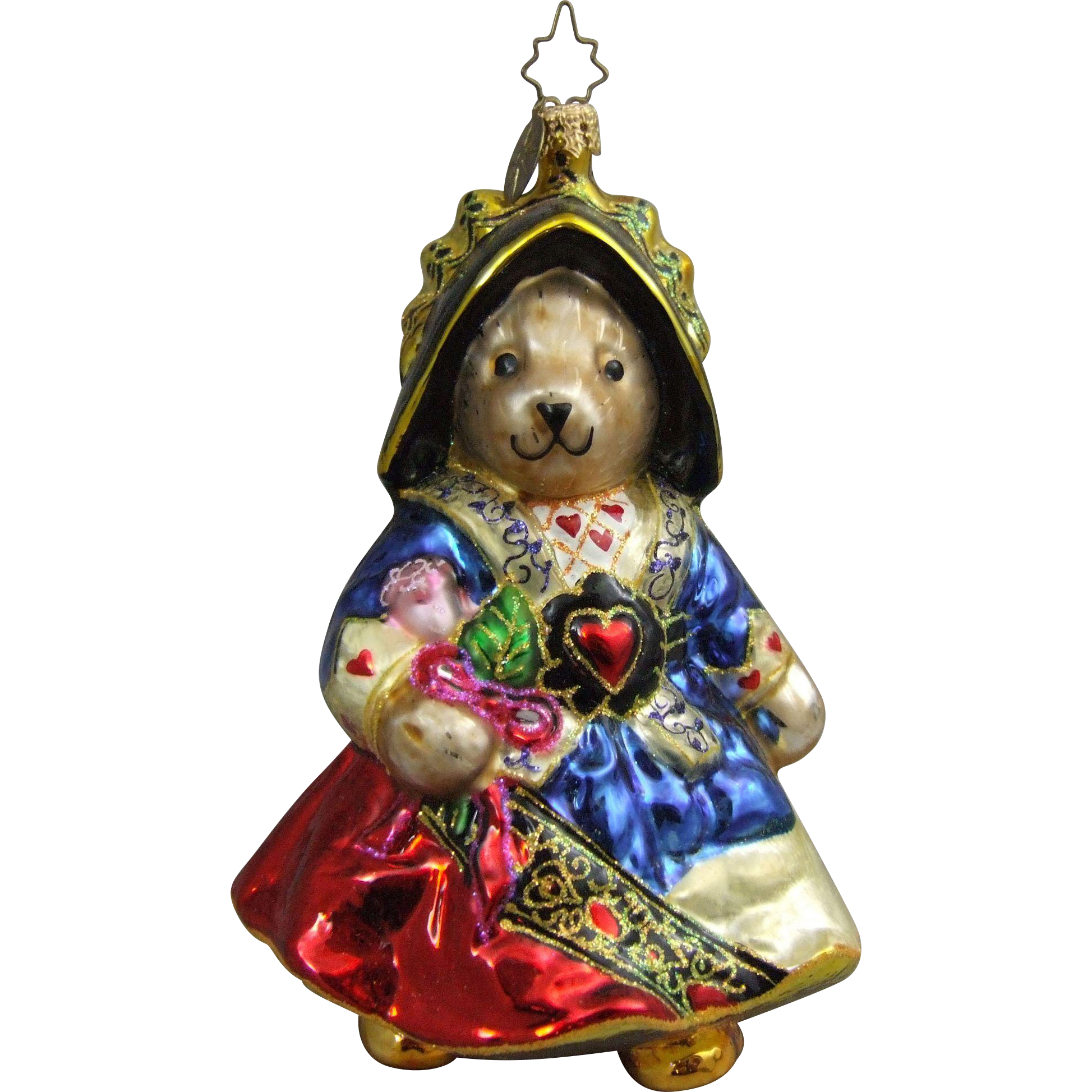 Christopher Radko Christmas Ornament Retired Muffy Queen of Hearts ...