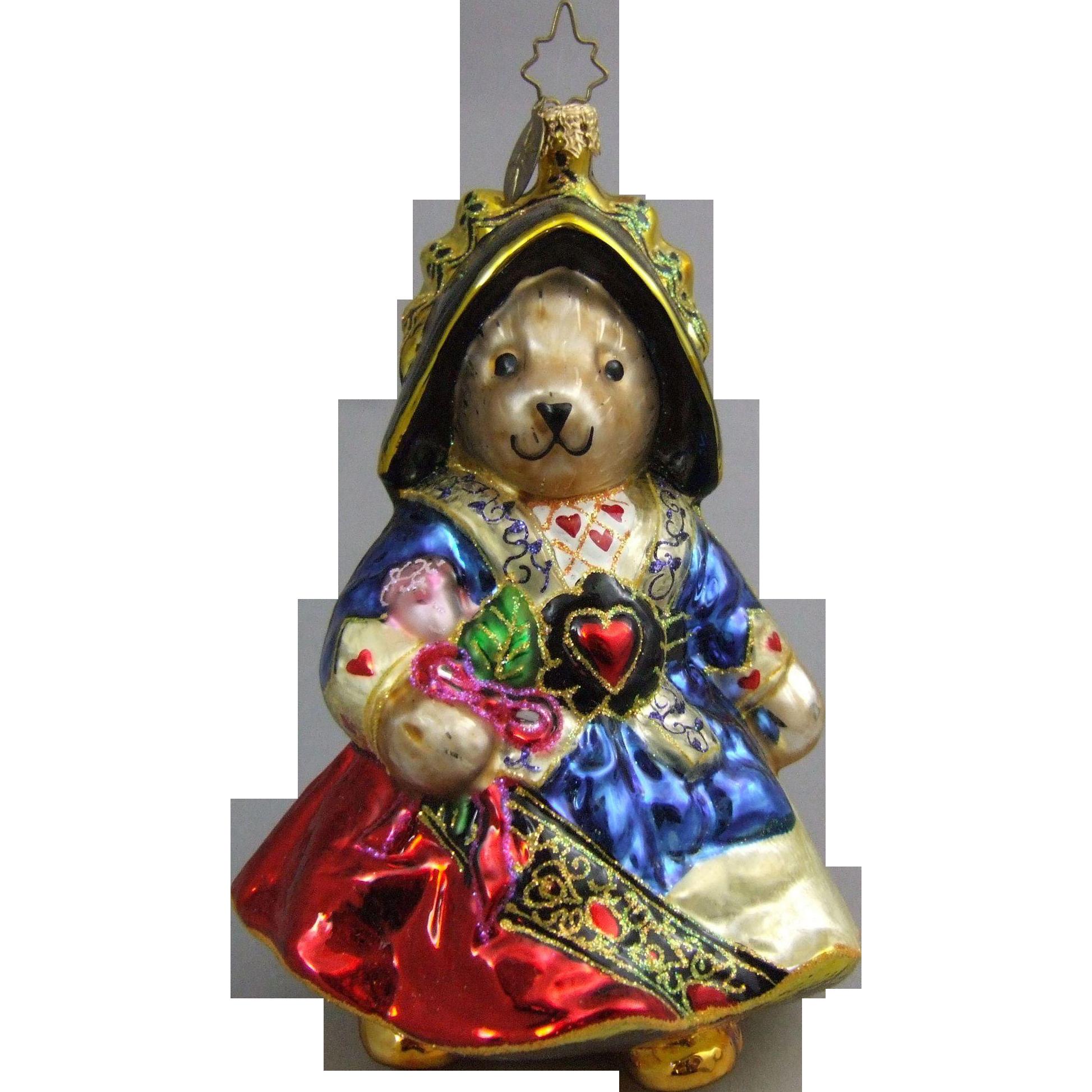 Christopher radko ornaments - Christopher Radko Christmas Ornament Retired Muffy Queen Of Hearts