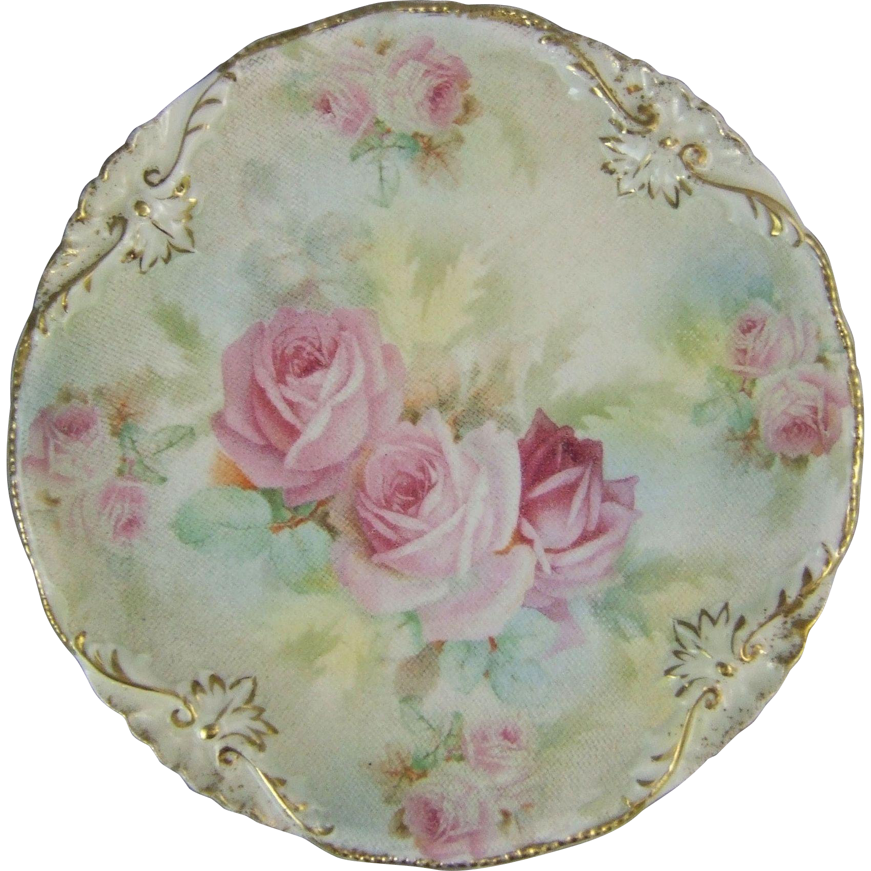 Royal Bayreuth Porcelain Rose Tapestry Plate