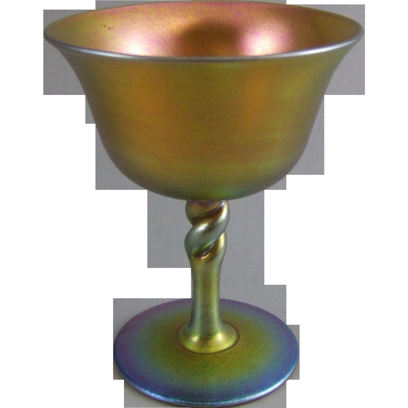 Frederick Carder Era Steuben Glass Gold Aurene 2361 Sherbet Wine