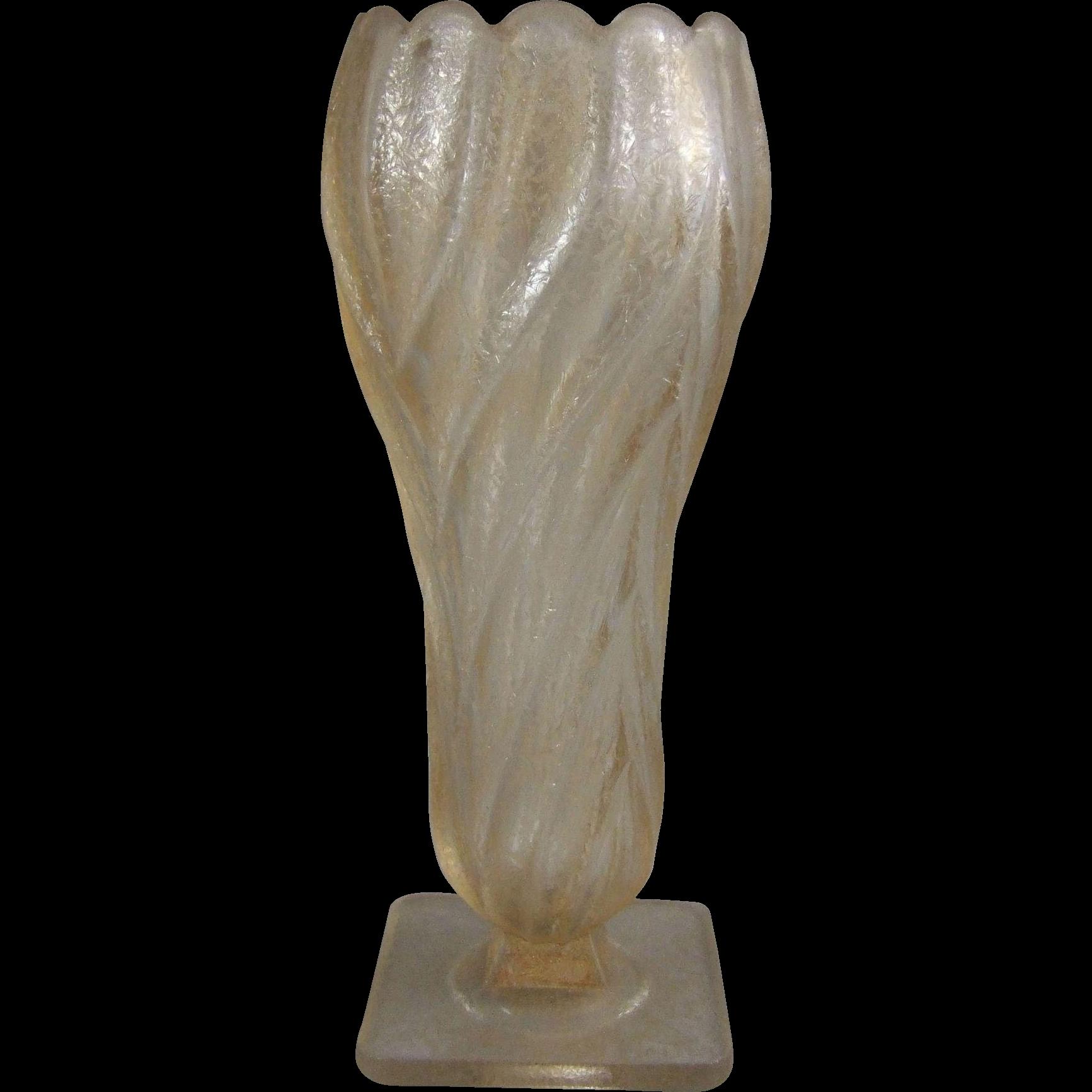 Art Deco Czech Glass Vase