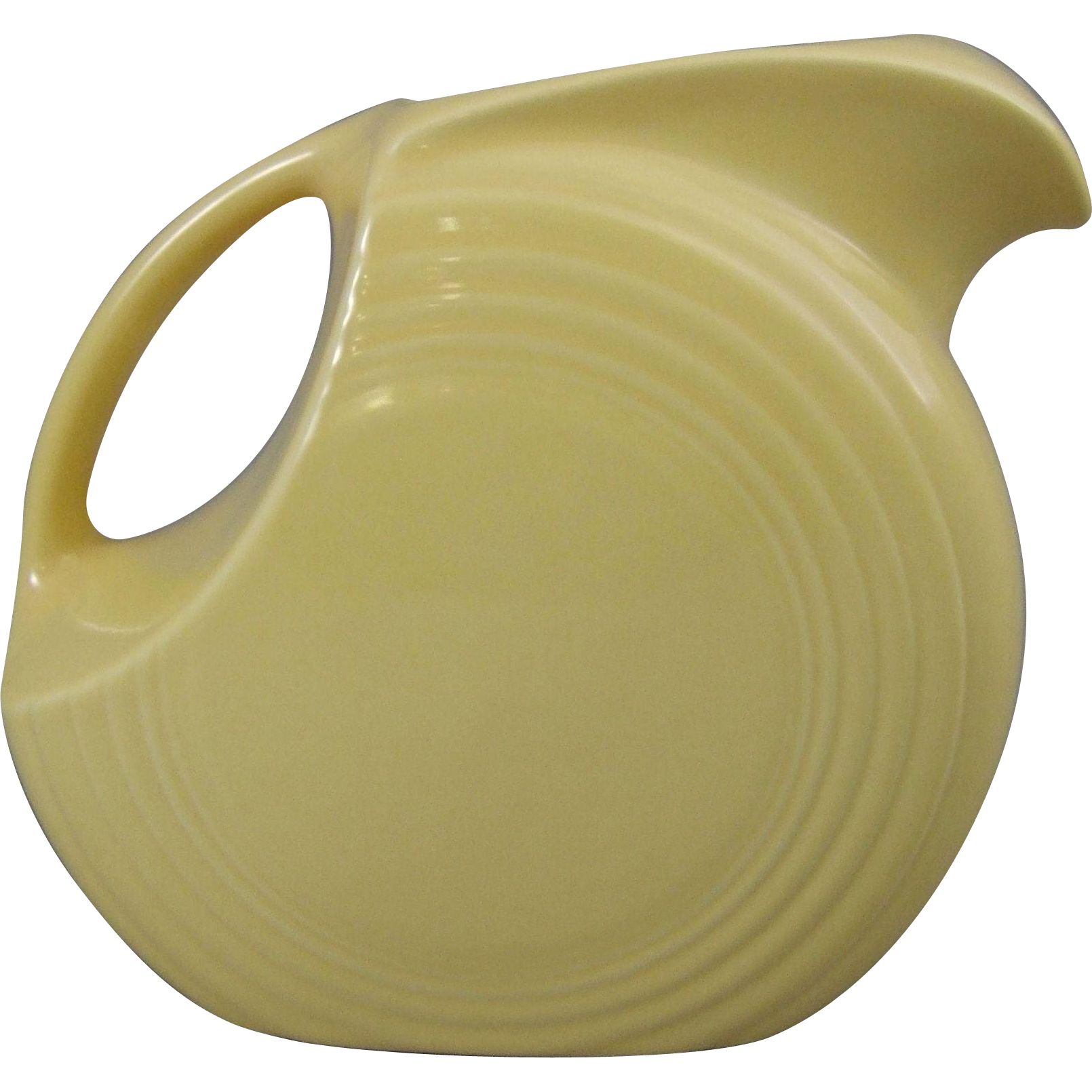 Homer Laughlin Fiesta Ware Large Yellow Disk Pitcher