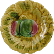 Sarreguemines French Majolica Cabinet Plate