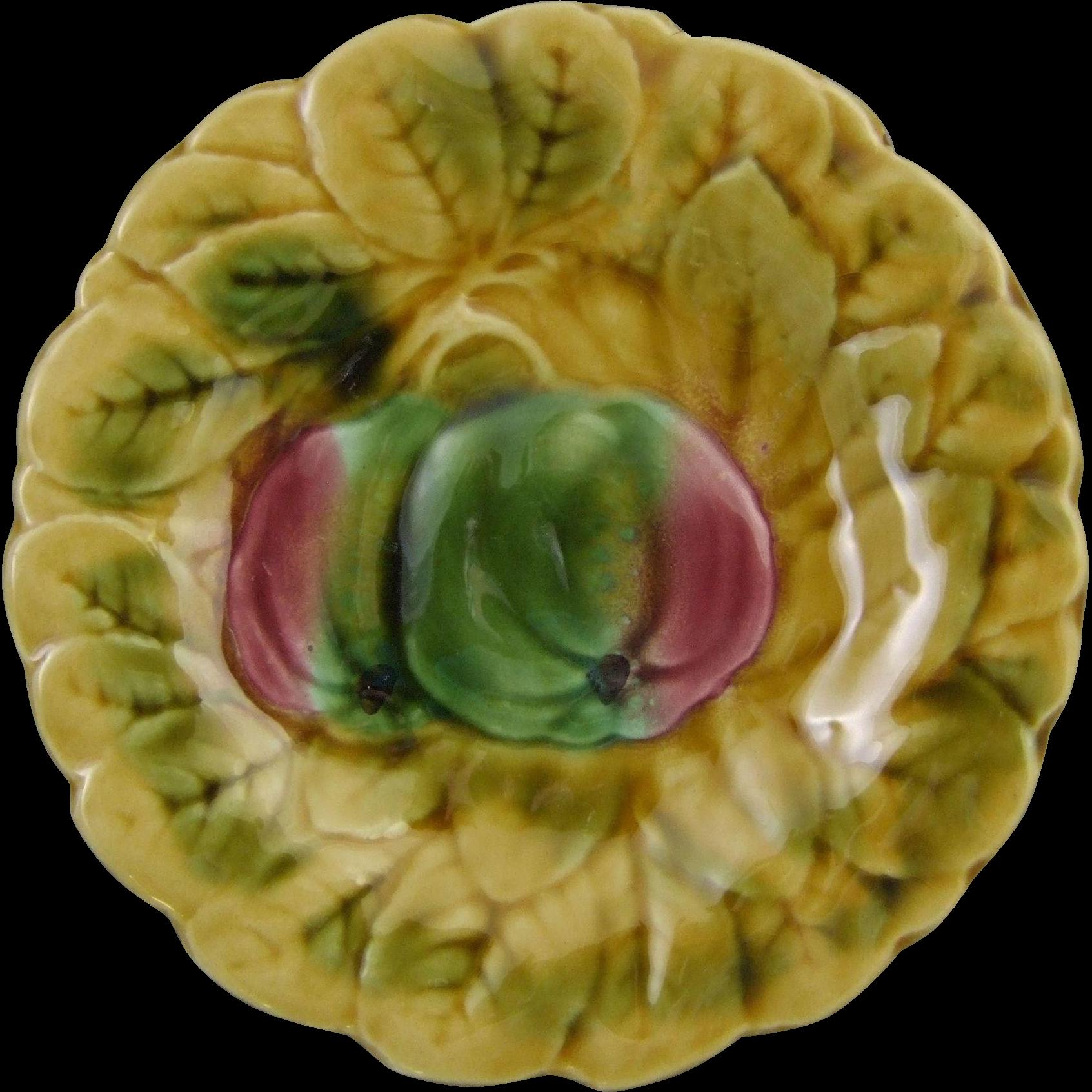 Sarreguemines French Majolica Cabinet Plate