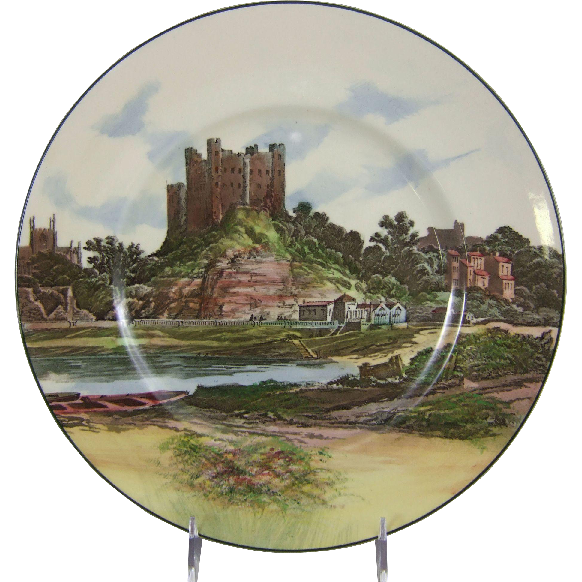 Royal Doulton Castles & Churches Seriesware Cabinet Plate D6308 Rochester Castle