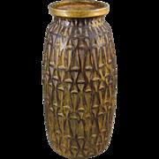 Raymor Mid Century Modern Geometric Pattern Floor Vase