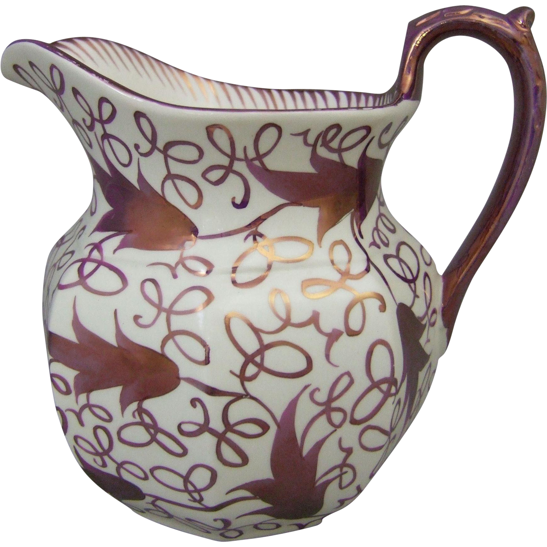 Wedgwood Copper Luster Ceramic Milk Jug