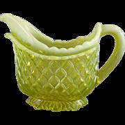 Davidson #900 Vaseline Uranium Glass Primrose Yellow Pearline Jug