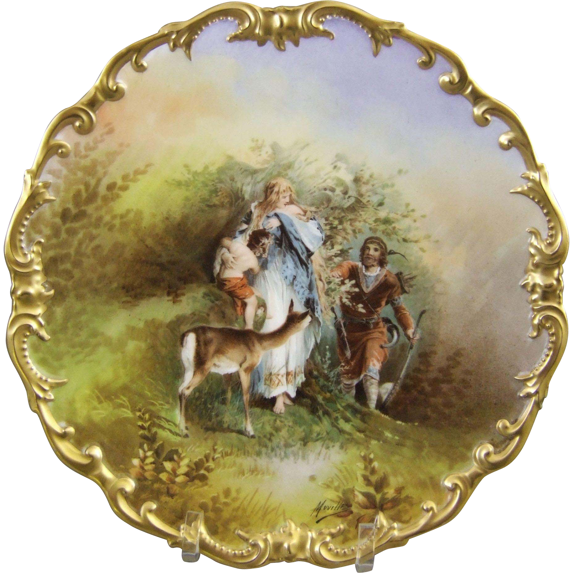LRL Limoges Porcelain Charger Signed Muville From