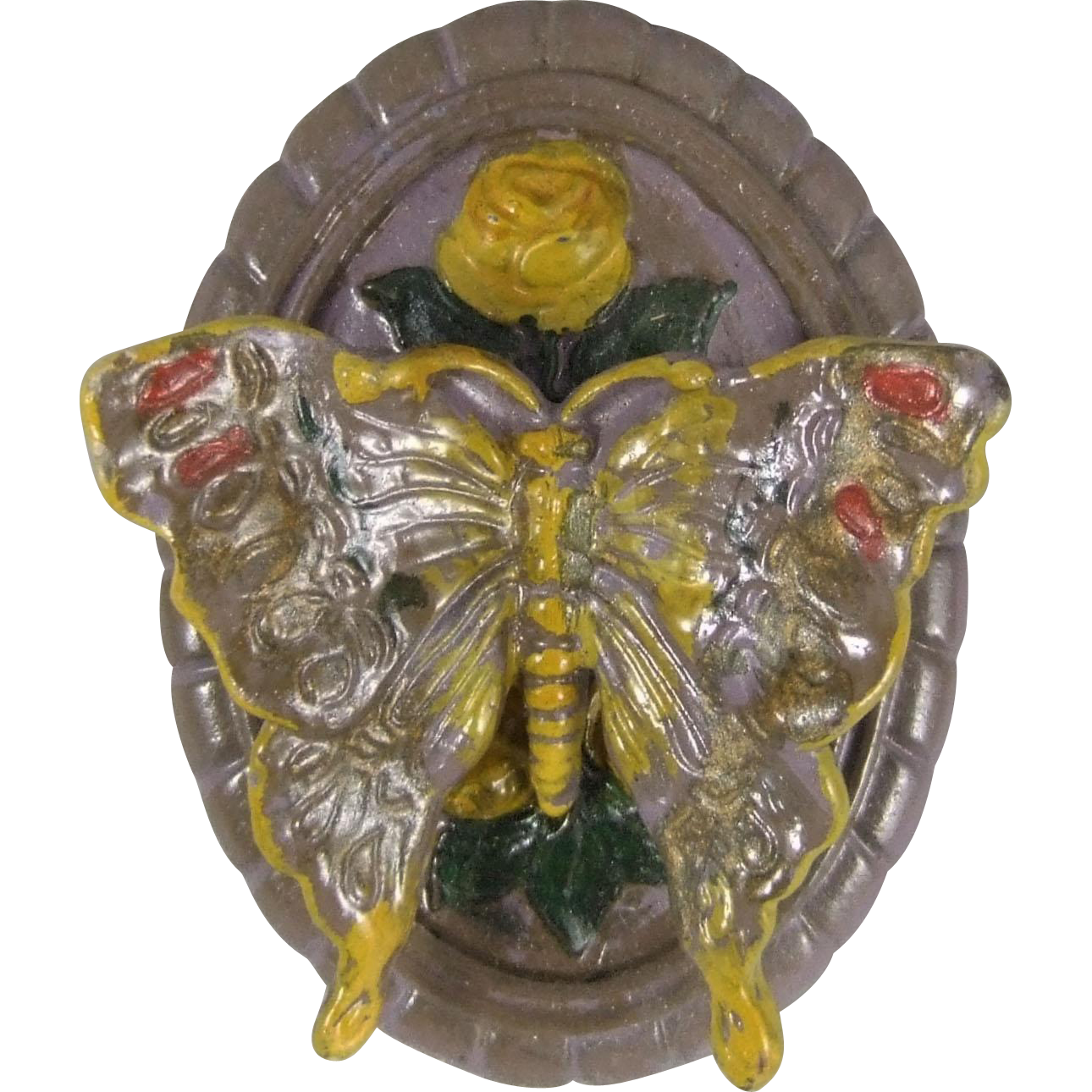 Circa 1920's Cast Iron Butterfly Doorknocker