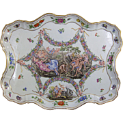 Antique Capodimonte Porcelain Allegorical Tray