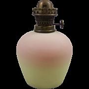 Antique Burmese Glass Diminutive Kerosene Oil Lamp