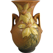 Roseville Pottery Clematis Twin Handled Vase 109-9