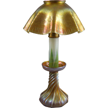 Antique Tiffany Favrile Candle Stick Lamp