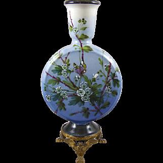 Antique Continental Aesthetic Movement Ceramic Moon Vase