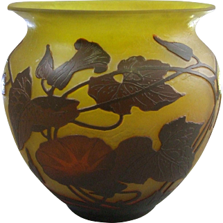 Arsall Cameo Glass Vase in Three Color Layers