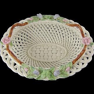 Belleek Irish Porcelain 140th Anniversary Basket