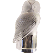 Lalique France Owl Paperweight
