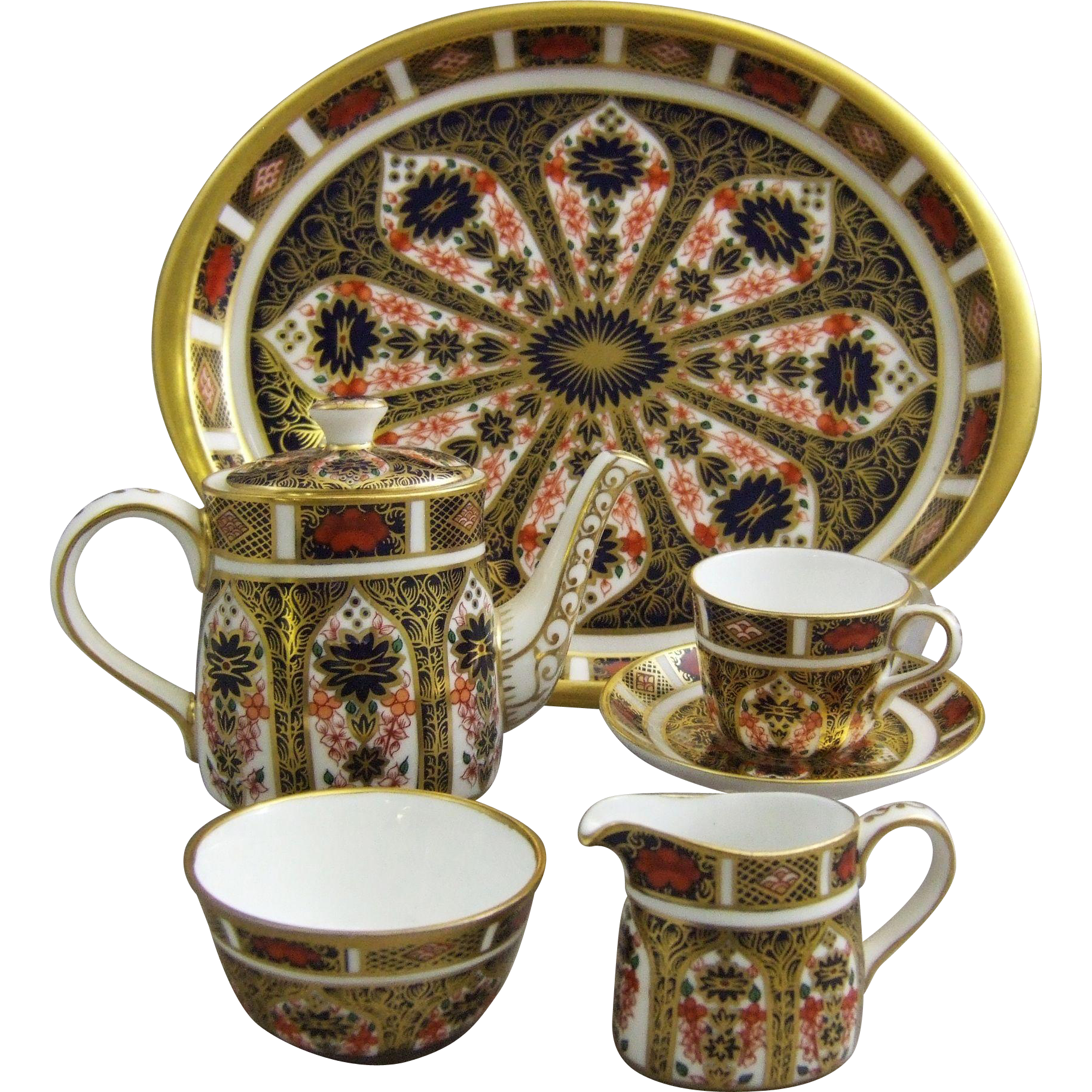 Royal Crown Derby Imari 1128 Miniature Cabaret Tea Set