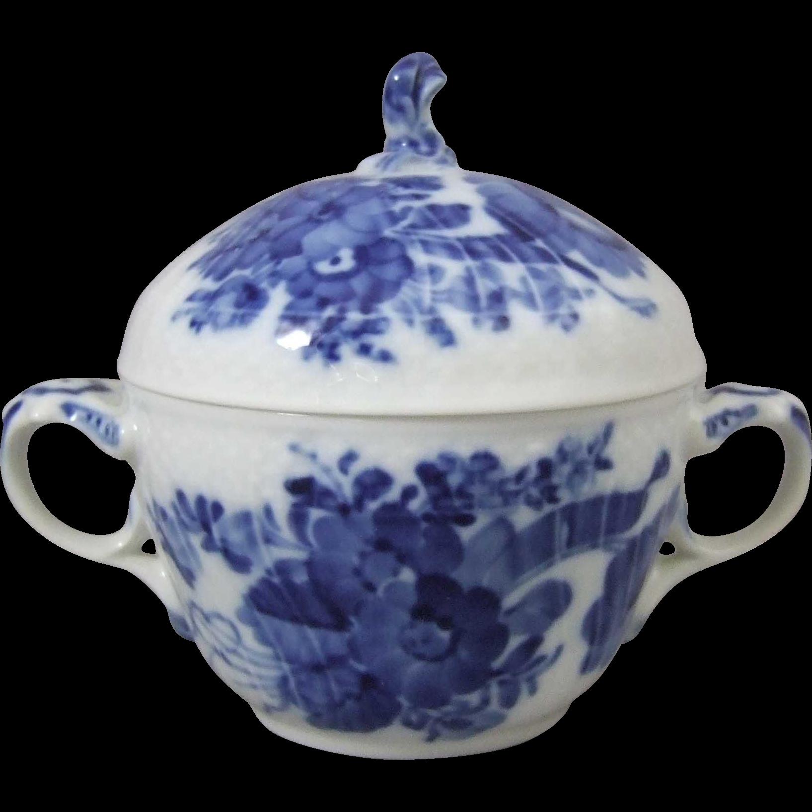 Royal Copenhagen Blue Flower Curved 161 Sugar Bowl