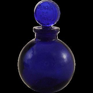 Lalique Jans la Nuit Miniature Cobalt Glass Perfume Bottle