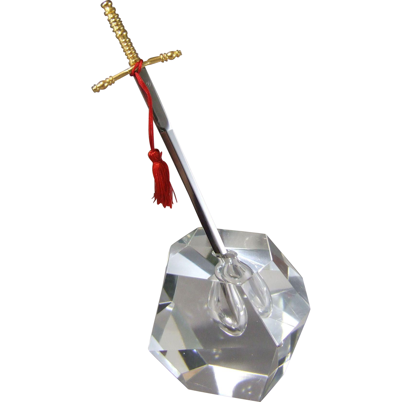 Excalibur Crystal Sculpture Paperweight & Letter Opener