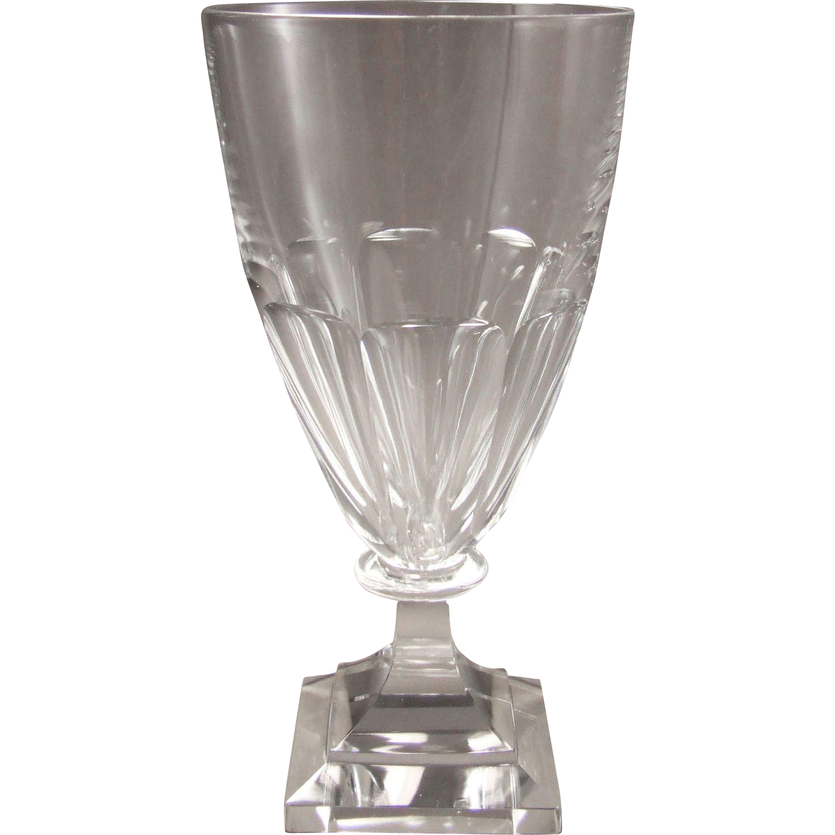 Kosta Boda Sweden Maleras Solenn Water Goblet