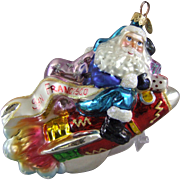 Christopher Radko Millennium Blastoff Blown Glass Ornament