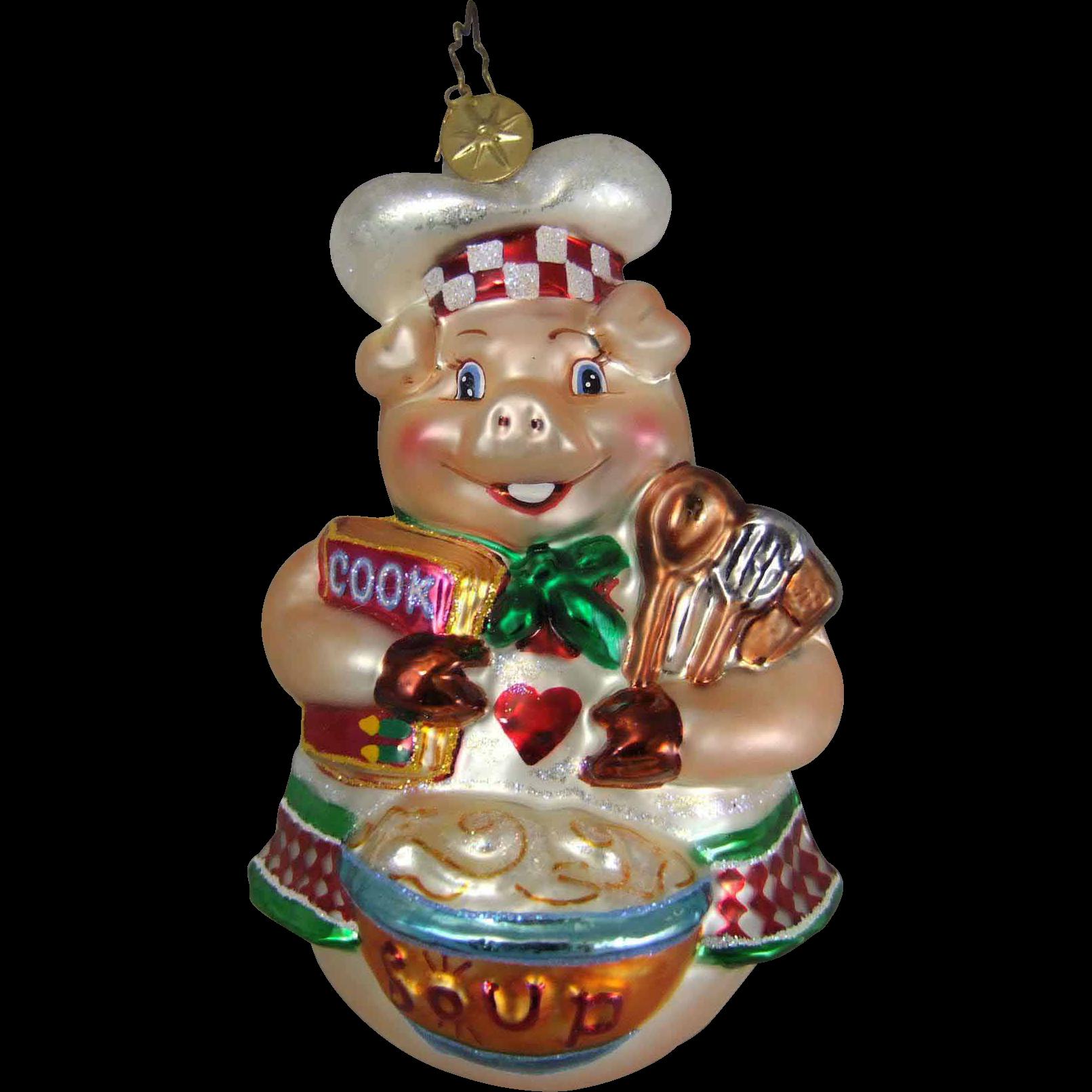 Christopher Radko Ornament Wolfgang Pork 1010918