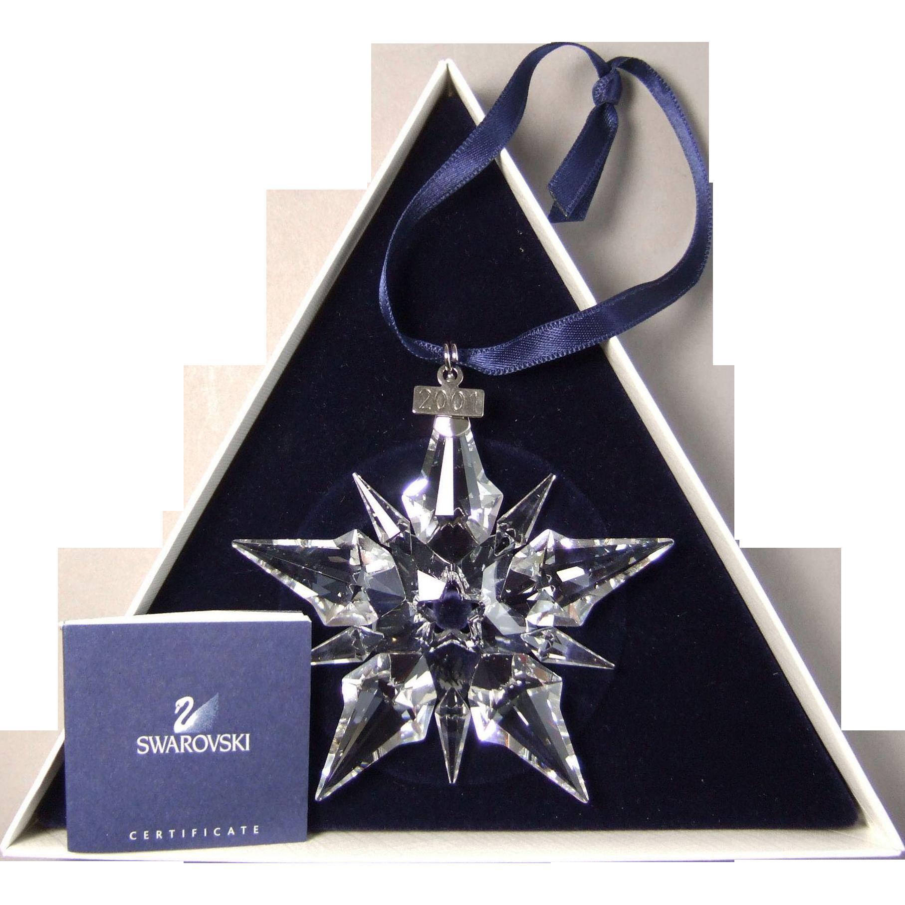 2001 Swarovski Crystal Snowflake Annual Edition Christmas Ornament