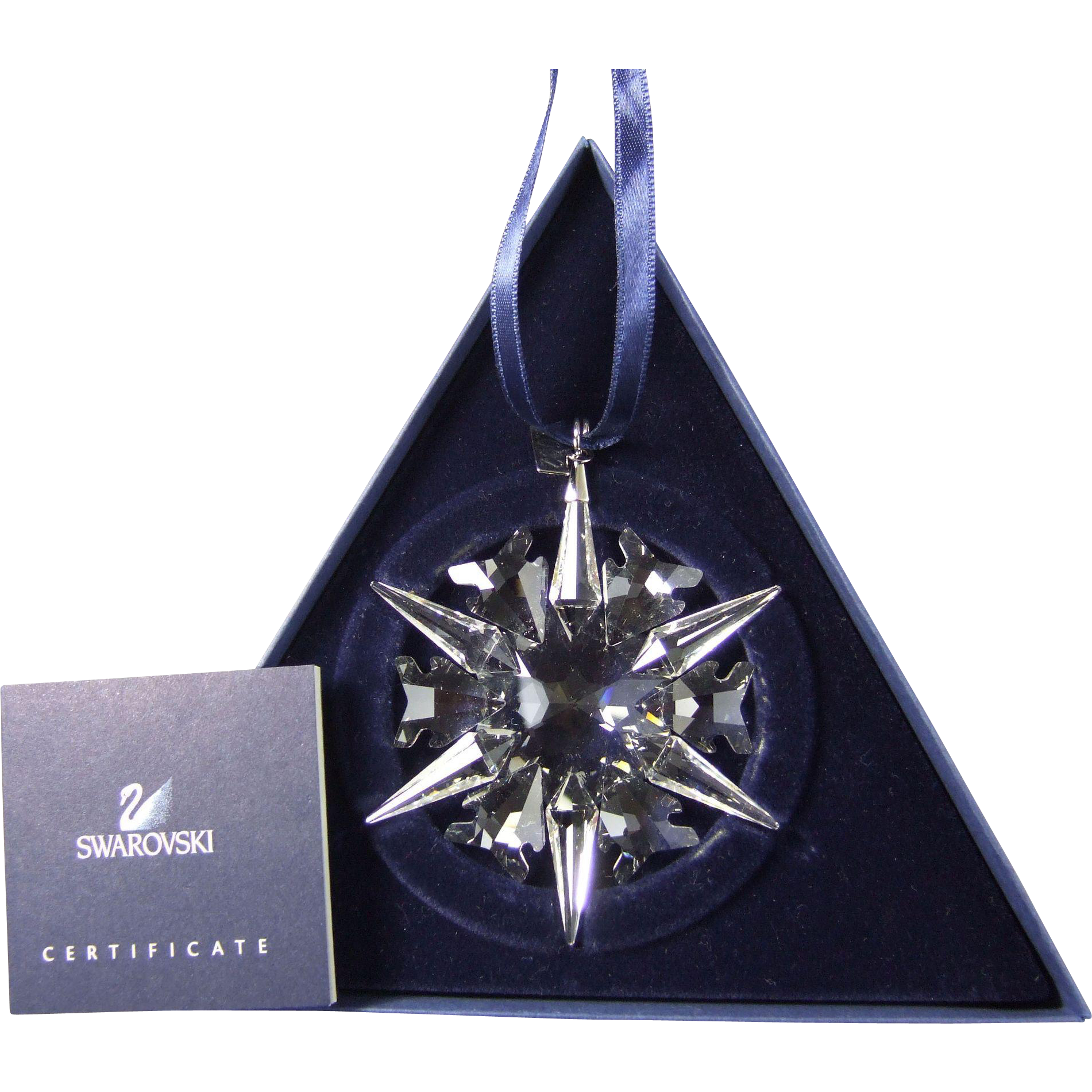 2002 Swarovski Crystal Snowflake Annual Edition Christmas Ornament