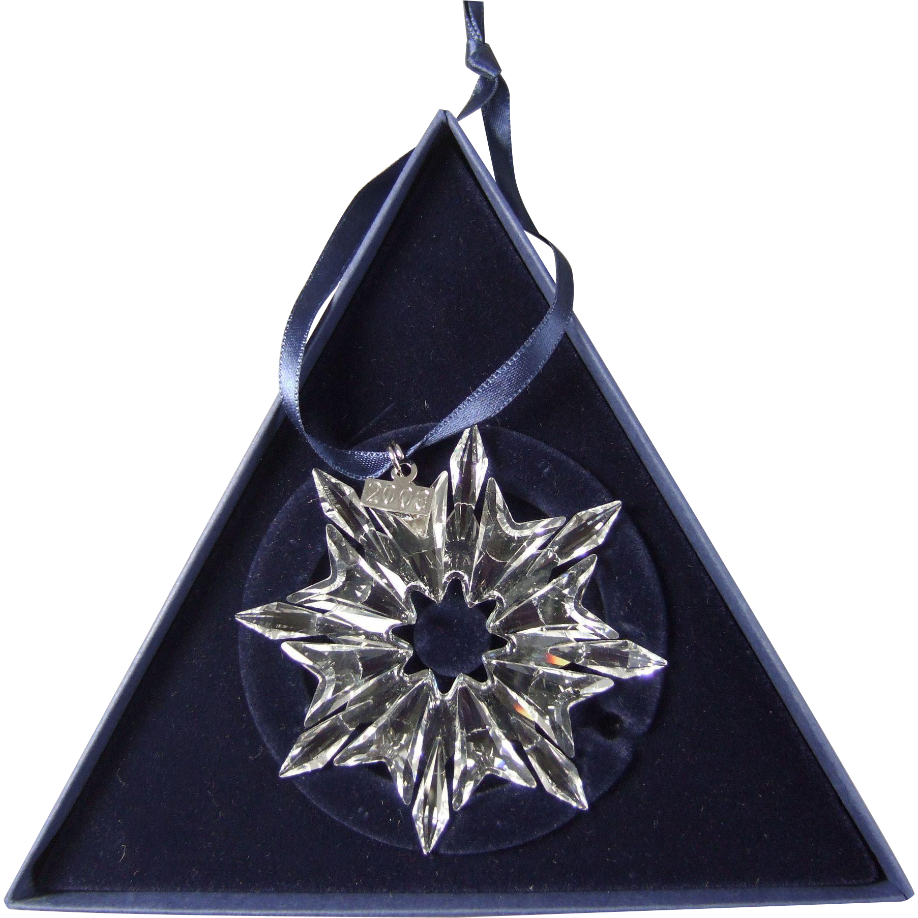 2003 Swarovski Crystal Snowflake Annual Edition Christmas Ornament
