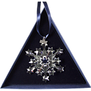 2004 Swarovski Crystal Snowflake Annual Edition Christmas Ornament