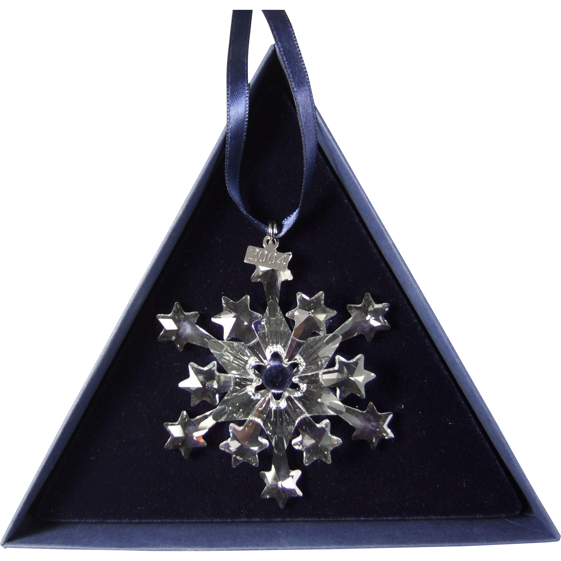 Swarovski christmas ornament 2004 - 2004 Swarovski Crystal Snowflake Annual Edition Christmas Ornament