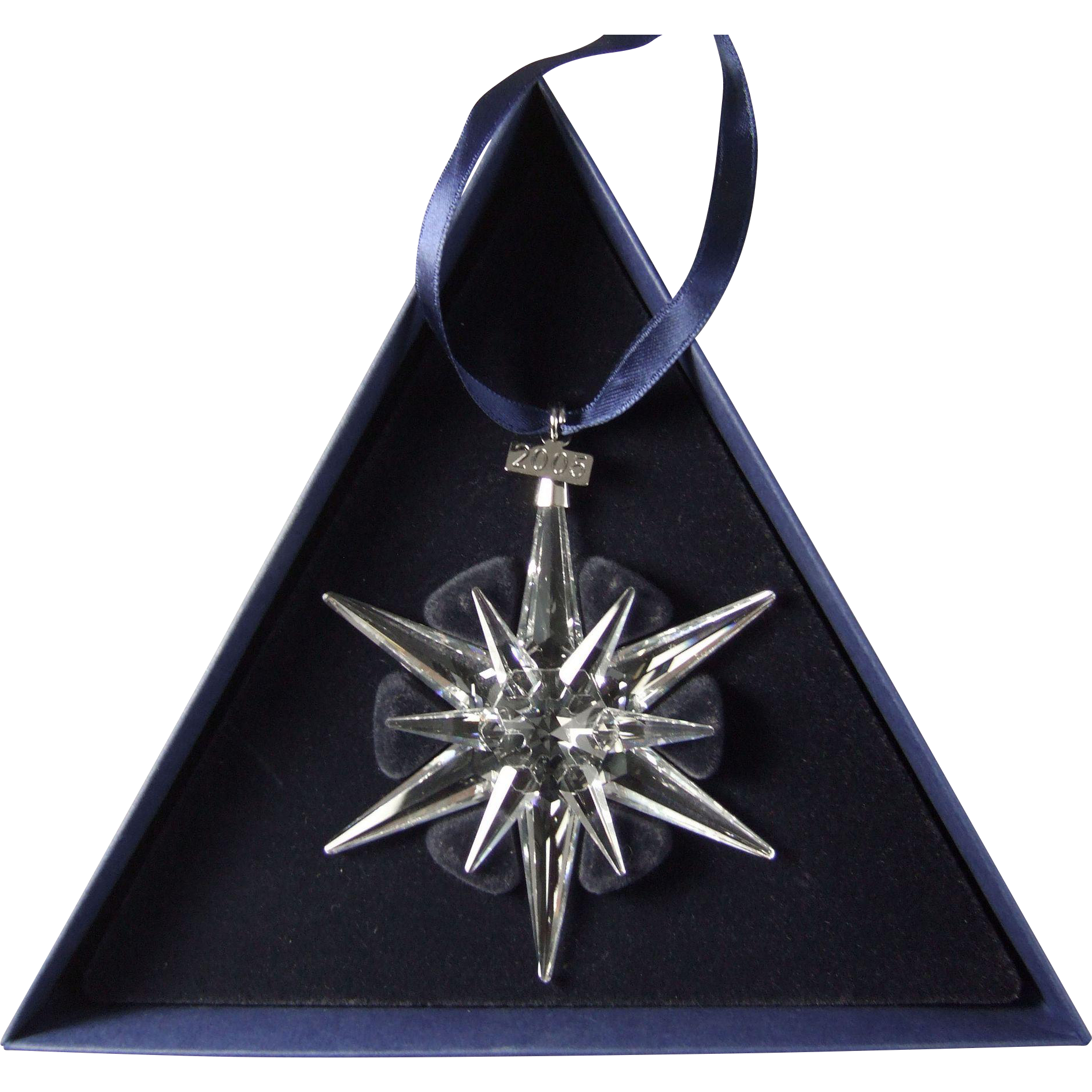 2005 Swarovski Crystal Snowflake Annual Edition Christmas Ornament