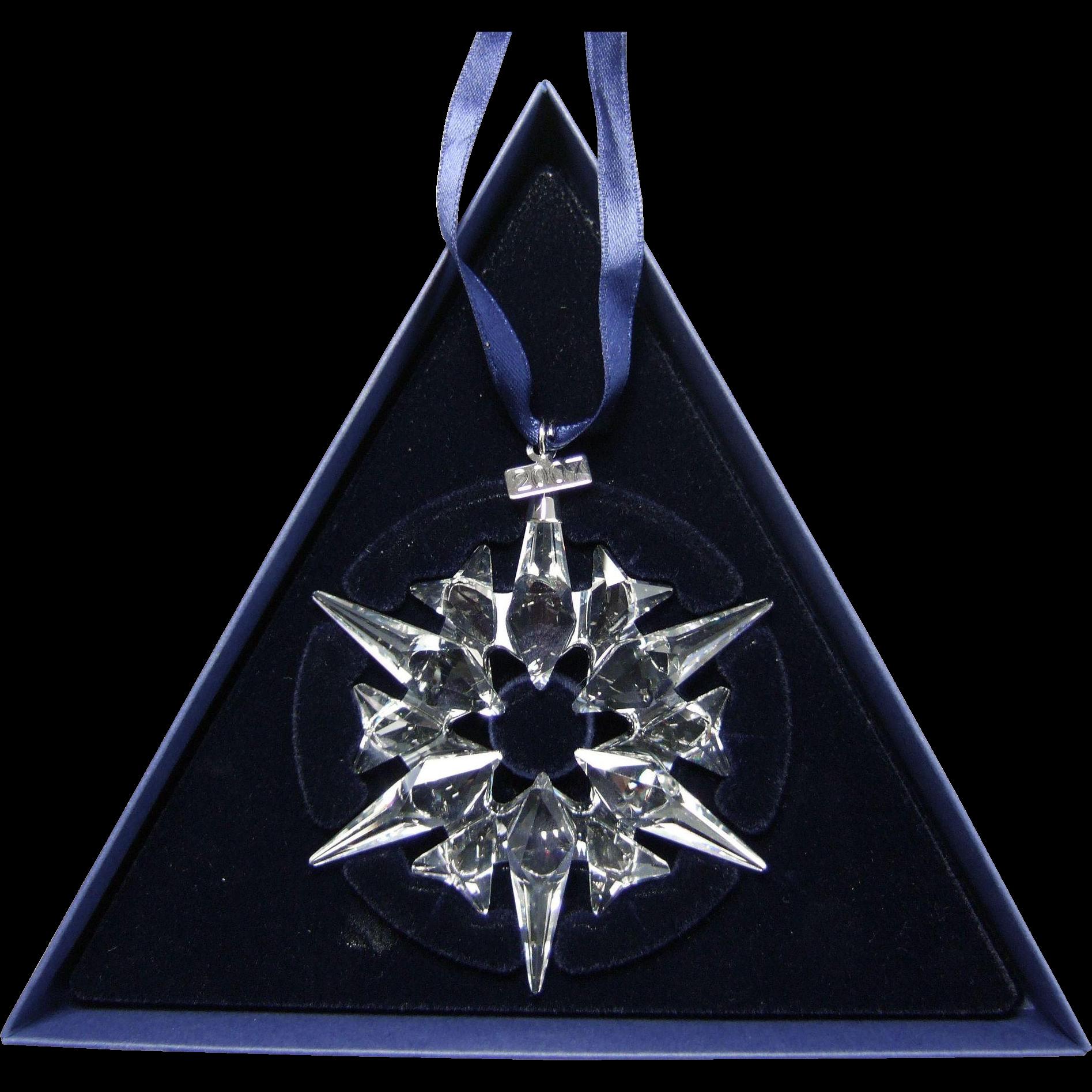 2007 Swarovski Crystal Snowflake Annual Edition Christmas ...
