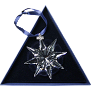 2009 Swarovski Crystal Snowflake Annual Edition Christmas Ornament