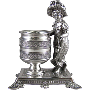Kate Greenaway Silver Plated Toothpick Match Holder