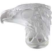 Lalique Eagle Mascot Desk Ornament Paperweight