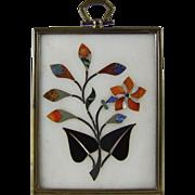 Pietra Dura Hardstone Marquetry Flower Study
