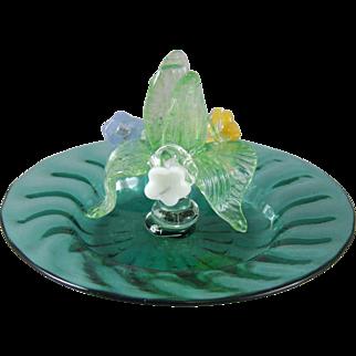 A.V.E.M. Venetian Murano Italian Glass Menu Holder