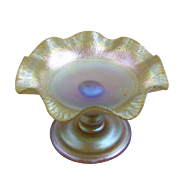 Tiffany Favrile Glass Tazza
