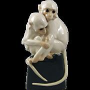 Wiener Werkstätte Austria Ceramic Monkey Lamp