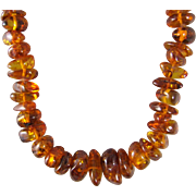 "Baltic Honey Amber Nugget 24"" Necklace"