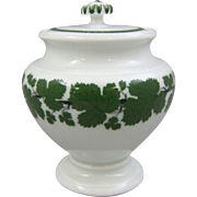 Meissen Porcelain Full Green Vine Footed Sugar Bowl