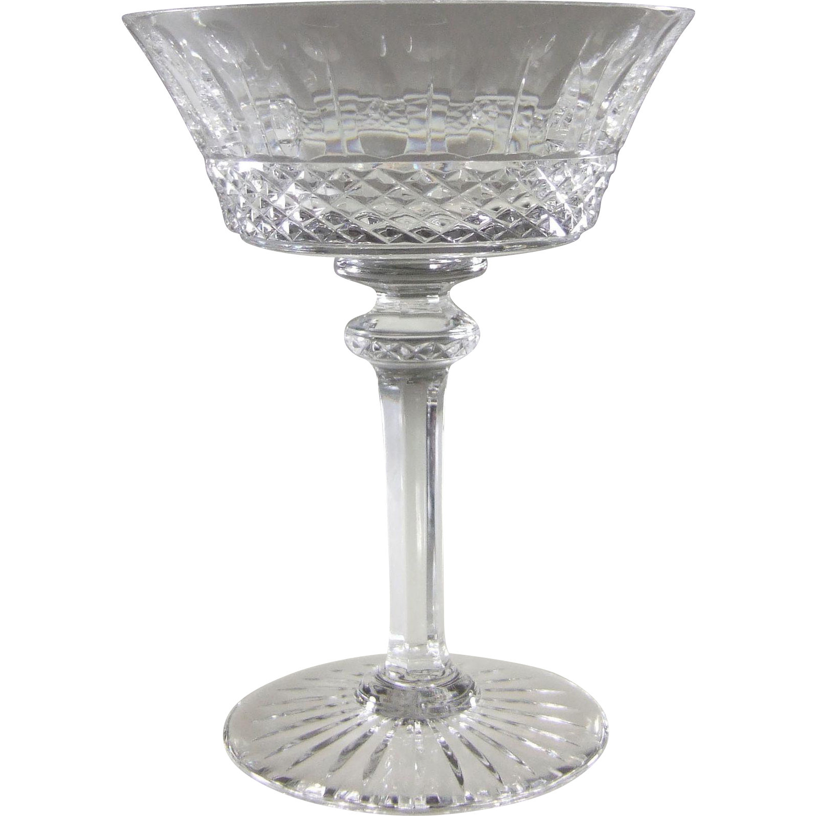 Saint-Louis Crystal France Tommy Sherbet Champagne Stem St. Louis Cristal