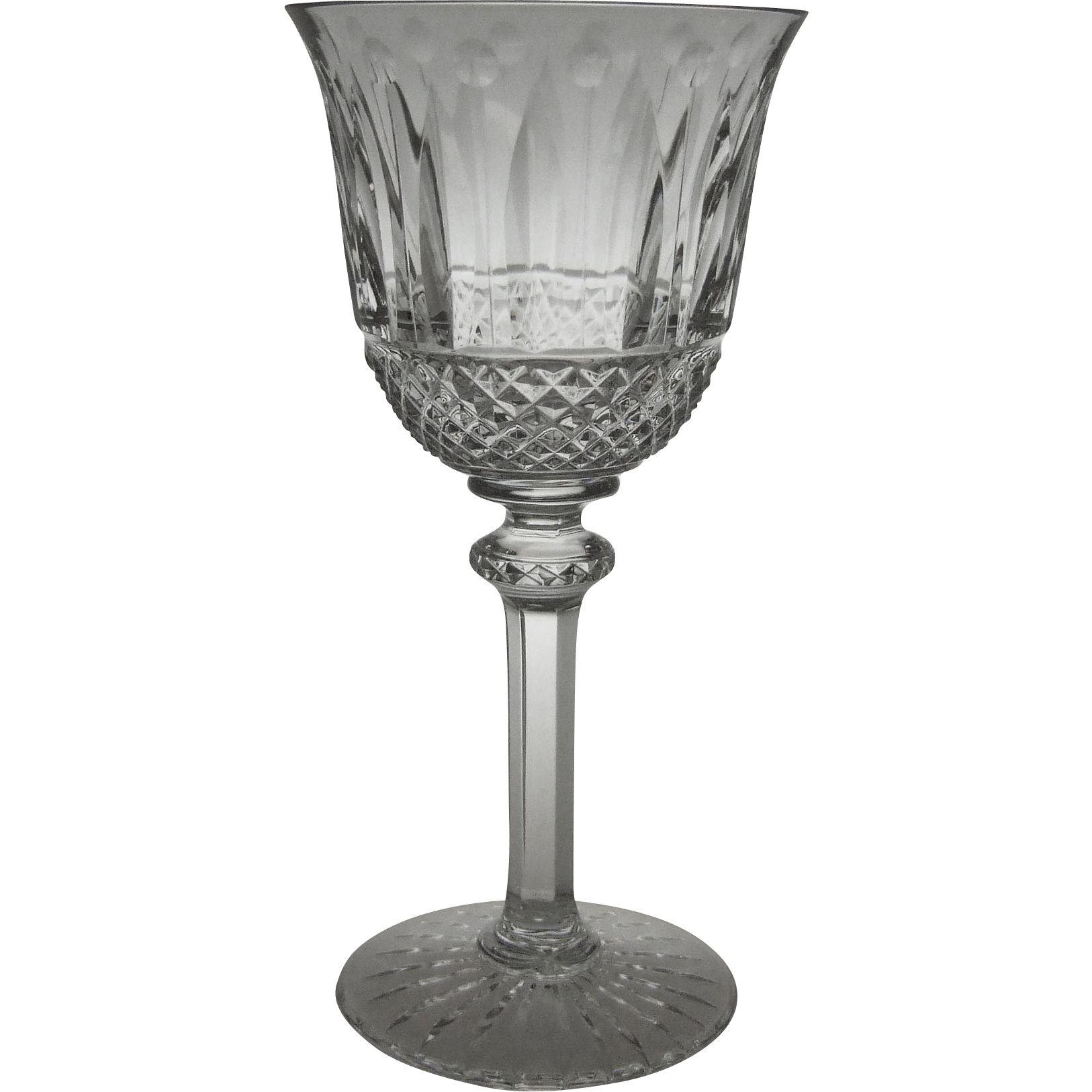 Saint-Louis Crystal Tommy 7 Inch Tall Water Glass Goblet St. Louis
