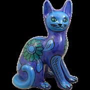 Mid Century Retro Italian Pottery Cat
