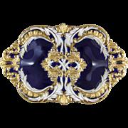 Meissen Porcelain Royal Blue & Gold Enamel Leuteritz Bowl