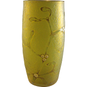 Daum Nancy Cameo Glass Mistletoe Tumbler
